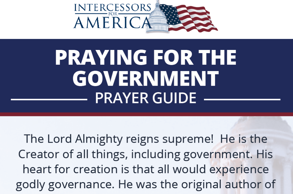 Praying for the Government Bookmark